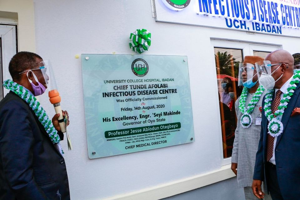 TEXT OF A SPEECH DELIVERED BY THE CHIEF MEDICAL DIRECTOR OF UCH, PROFESSOR JESSE ABIODUN OTEGBAYO AT THE COMMISSIONING OF THE CHIEF TUNDE AFOLABI INFECTIOUS DISEASE CENTRE ON FRIDAY, 14TH AUGUST 2020.