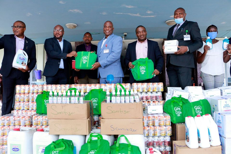 Nigerian Breweries PLC  donates PPE, Relief Materials to UCH.