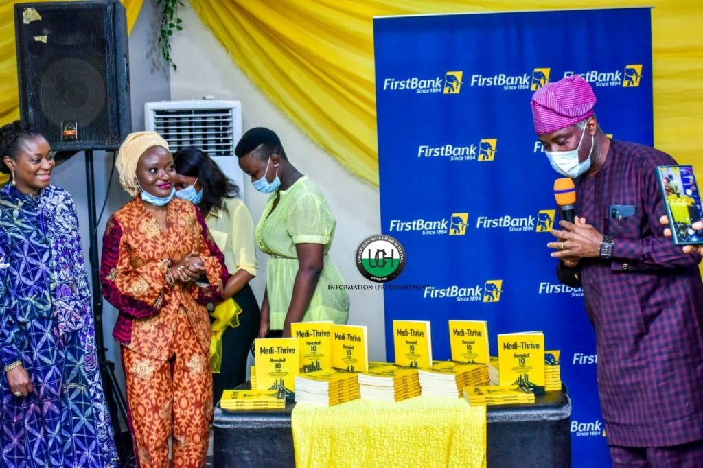 """PHOTOS: The Chief Medical Director (CMD) Professor Jesse Abiodun Otegbayo recently unveiled the book titled """"Medi-Thrive"""" written by Dr. Shakirat Gold-Olufadi, a Consultant Physician and a Dermatologist.   The CMD represented the Chairman, Senate Committee on Health, Dr. Ibrahim Oloriegbe at the book launch."""