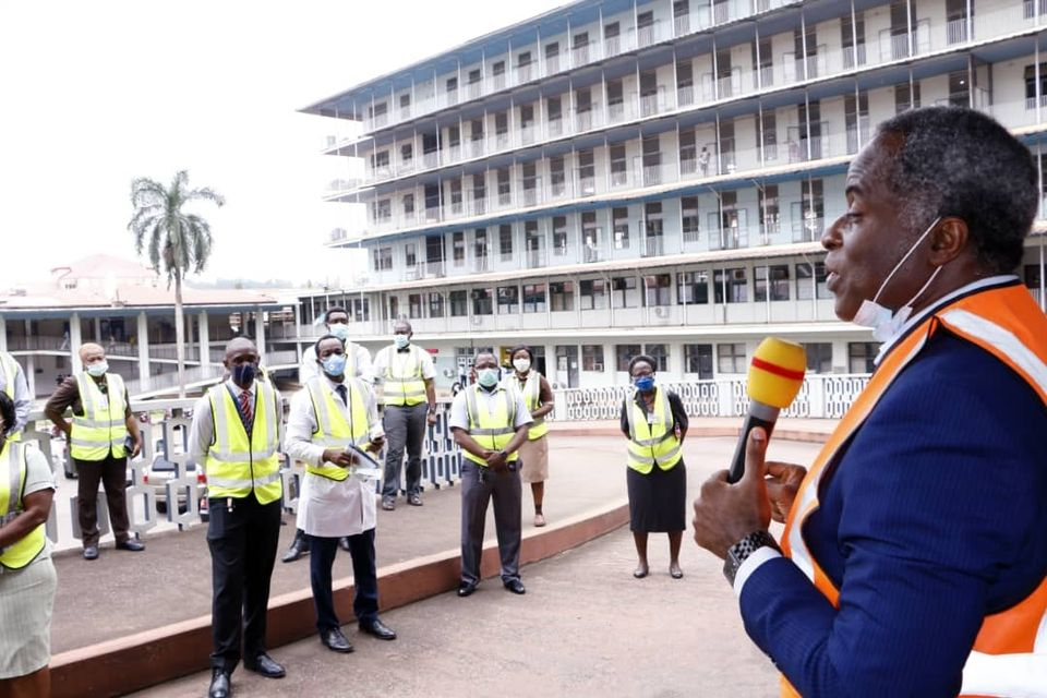 PHOTOS: UCH Chief Medical Director Jesse Otegbayo meets with members of the Hospital's COVID-19 task force team, commends their efforts so far and promises better incentives.