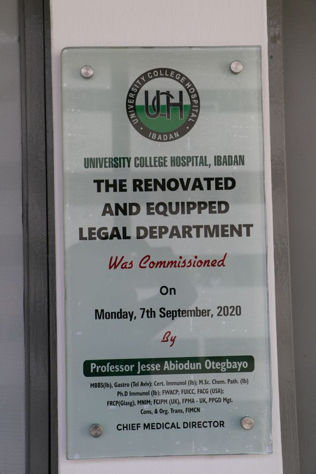 CMD Commissions the Renovated Legal Department office, promises to equip other Offices.